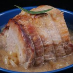 Rôti de porc à la moutarde et au miel